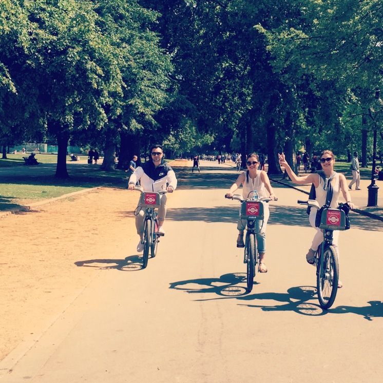 Cycling at Hyde Park, London